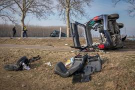 Impact devastator în Ungaria, lângă Vama Borş: Cinci persoane au fost rănite (FOTO / VIDEO)