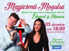 'Magicienii Moşului': Spectacol de magie cu Eduard şi Bianca, la Filarmonica orădeană