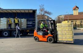 Donaţie de 10 tone de făină pentru săracii Oradiei, făcută cu ocazia Sărbătorilor de Paşti (FOTO)