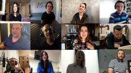 """Artiștii orădeni cântă în pandemie: """"Tot orașul se gândește la voi"""", cei din linia întâi, cu """"speranță în glas"""" și cu îndemnuri de """"stai acasă"""" (VIDEO)"""