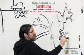 Artist Talk cu Dan Perjovschi, la Comuniteca