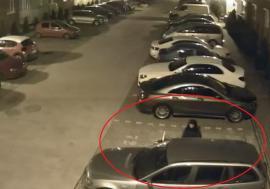 Femeie filmată în timp ce fură dintr-un BMW parcat în cartierul Prima din Oradea (VIDEO)