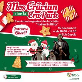 Asociaţia 'Italiani în Bihor' îl aduce pe Moş Crăciun în căruţă trasă de cai, la ERA Park Oradea