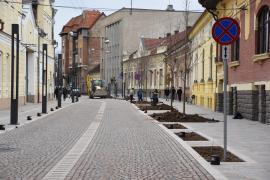 Pietonalizarea străzii Aurel Lazăr se apropie de final. Vezi cum arată! (FOTO)
