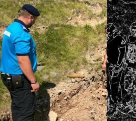 Jandarmii montani, alertaţi că s-a găsit o bombă în zona Vărăşoaia din Munţii Bihorului (FOTO)