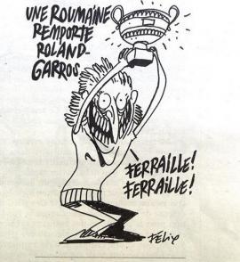 Simona Halep, ţinta unei glume de prost gust a revistei Charlie Hebdo: 'Fier vechi, fier vechi'