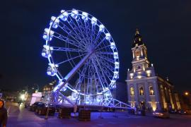 Oradea se gătește de sărbători: Se fac ultimele teste la roata-carusel! (FOTO)