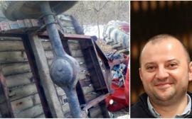 Accident grav: Un lider PSD, între viaţă şi moarte după ce a fost călcat de un tractor