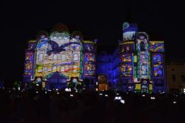 Palatul Vulturul Negru, 'ecran' pentru o proiecţie impresionantă, de Zilele Art Nouveau (FOTO/VIDEO)