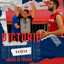 CSM CSU Oradea a câştigat clar şi ultimul joc de la Timişoara: 83-59 cu CSM Focşani (VIDEO)