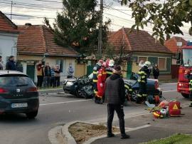 Accident grav în Oradea, pe Calea Bihorului: Unul dintre şoferi a decedat (VIDEO)