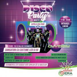 ERA Park Oradea îşi sărbătoreşte ziua de naştere cu o petrecere cu tematica Disco şi cu show-uri de lumini LED