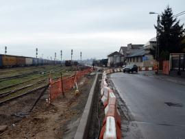 Drum închis! Drumul expres se închide de duminică până luni dimineaţă în zona din dreptul gării pentru turnarea asfaltului
