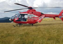 Un bolnav internat la Nucet a căzut de la etaj. A fost solicitat elicopterul SMURD (VIDEO)