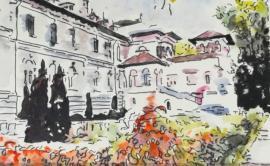 Expoziţie nouă la Cetatea Oradea: Palatul Cotroceni, pictat în acuarele