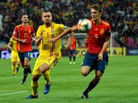 România a fost învinsă de Spania cu 2-1. Atacantul bihorean George Puşcaş a centrat pentru singurul gol al gazdelor