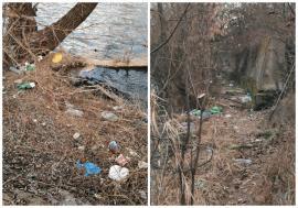 Ne enervează: În Oradea, malurile Crişului Repede sunt pline de gunoaie (FOTO)