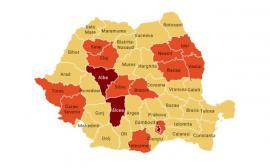 Harta judeţelor vulnerabile în criza Covid-19. În Bihor, rata de incidenţă a virusului este sub 1,5 la mia de locuitori