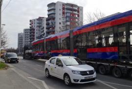 Încă un tramvai nou Imperio a ajuns în Oradea. Până în luna iulie vor fi livrate încă 9(FOTO / VIDEO)