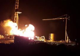 Incendiu devastator la o sondă de gaz din Satu Mare. Au fost mobilizați inclusiv pompieri din Bihor (VIDEO)