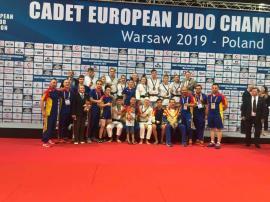 Trei orădeni au contribuit din plin la cucerirea medaliei de argint de către România la Europenele de judo pentru cadeţi