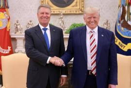 Klaus Iohannis s-a întâlnit cu Donald Trump la Casa Albă. Preşedintele SUA a spus că 'americanii îi iubesc pe români'