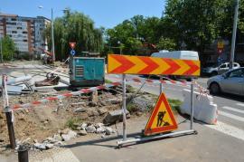 Circulaţia tramvaielor pe strada Calea Aradului ar putea fi reluată peste două săptămâni (FOTO)