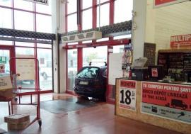 Bizon de Oradea: A intrat cu maşina în Brico Depot!