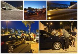 Revoltă în parcarea aquaparkului Nymphaea din Oradea: Zeci de oameni s-au trezit cu maşinile pulverizate cu vopsea! (FOTO / VIDEO)