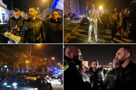 Protest restrâns în Oradea, în prima seară când a apărut şi deputatul Mihai Lasca(FOTO / VIDEO)