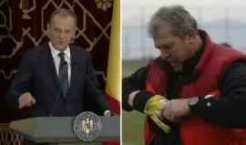 Helmuth Duckadam i-a făcut cadou lui Donald Tusk mănuși de portar și... pălincă