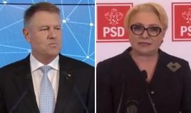 Candidaţii la Preşedinţie au 'dezbătut' de la distanţă. Iohannis şi Dăncilă s-au 'băutut' în conferinţe de presă diferite (VIDEO)