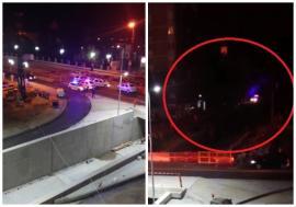 A căzut cu mașina într-o groapă uriașă, din șantierul pasajului subteran Magheru! (FOTO / VIDEO)