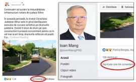 Cenzura lui Mang: Vicepreşedintele CJ Bihor i-a redus la tăcere pe internauţii care l-au luat la rost pe tema asfaltărilor