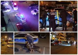 Agresor în libertate! Bărbatul care a înjunghiat-o pe femeia de pe strada Oneștilor din Oradea, căutat cu un câine polițist și cu reflectoare! (FOTO / VIDEO)