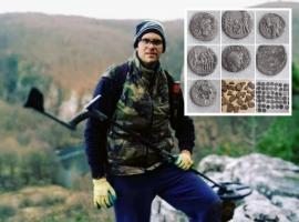 Căutătorul de comori: Un polițist a descoperit monede vechi de 2000 de ani pe dealurile din Borod (FOTO)