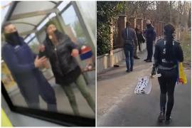 Scandal lângă Poliţia Oradea: O femeie a fost smucită de un poliţist, protestatari anti-mască au apărat-o. Atât ea, cât și apărătorul ei trebuiau să fie... în carantină! (VIDEO)