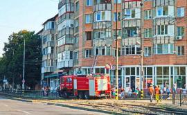 Incendiu în Cantemir: un apartament de la etajul unu a luat foc, proprietarii nu erau acasă (FOTO)