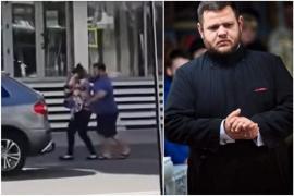 Un preot, filmat în timp ce își împingea și trăgea de păr soția, care ținea un copil în brațe, în centrul Bacăului (VIDEO)