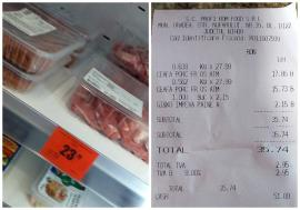 Ne enervează: Într-un magazin Profi din Oradea, un preţ e la raft, altul la casa de marcat (FOTO)