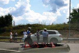 Accident reconstituit după o zi: Un biciclist lovit de o şoferiţă din Oradea, care iniţial n-a vrut să o reclame Poliţiei, s-a răzgândit