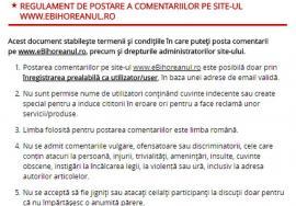 Dezbateri curate: Regulament privind comentariile de pe site-ul eBihoreanul.ro şi buton de raportare a mesajelor abuzive