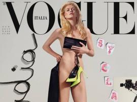 Claudia Schiffer, nud la 48 de ani, pe coperta revistei Vogue (FOTO)