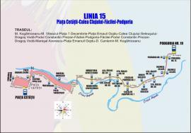 OTL anunță modificarea traseului de pe Linia 15, în contextul lucrărilor la pasajul subteran din Bd Magheru