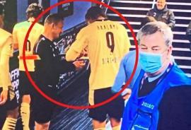 Arbitrul orădean Octavian Șovre, criticat după ce i-a cerut un autograf fotbalistului Erling Haaland, la finalul unui meci de Champions League (VIDEO)