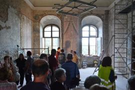 Palatul Baroc renaşte: Orădenilor li s-a prezentat evoluția lucrărilor pe șantier (FOTO / VIDEO)