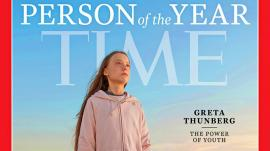 """La 16 ani, activista Greta Thunberg a fost desemnată """"Omul anului"""" de revista Time"""