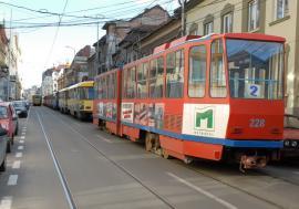 Staţionări tramvaie în 22.12.2020