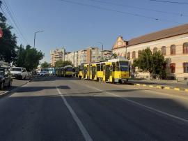 OTL: Tramvaiele au staţionat, luni, în Oradea din cauza mai multor accidente