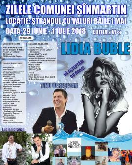 Zilele comunei Sânmartin: concert Lidia Buble, Tinu Vereşezan şi concurs Miss Summer!